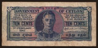 10 cents, 1942