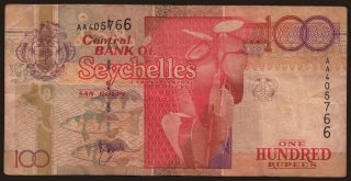 100 rupees, 1989
