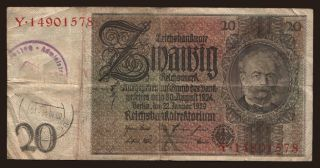 20 Reichsmark, 1929(44), Bettemburg