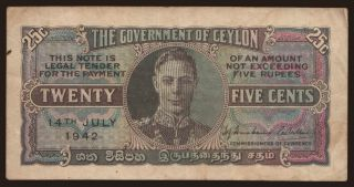 25 cents, 1942