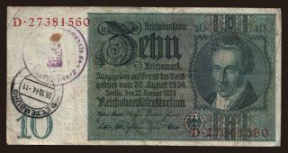 10 Reichsmark, 1929(44), Bettemburg