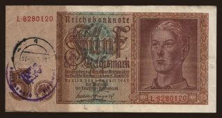 5 Reichsmark, 1942(44), Bettemburg
