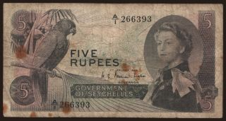 5 rupees, 1968