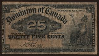 25 cents, 1900
