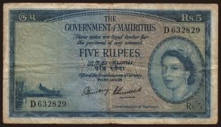 5 rupees, 1954