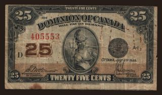 25 cents, 1923
