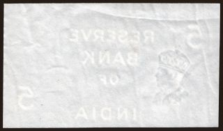 5 rupees, 1937, paper