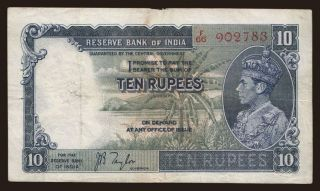 10 rupees, 1937