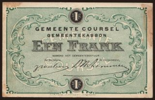 Coursel, 1 frank, 191?
