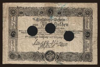 5 gulden, 1811, FALSUM