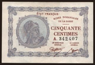 50 centimes, 1920