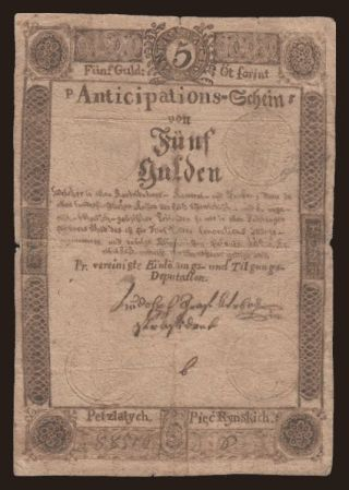 5 gulden, 1813, falsum