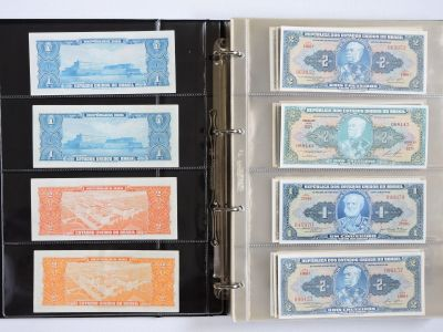 Banknotes, Brazil and Argentina